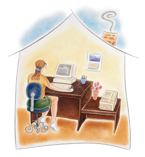 illustration of home office